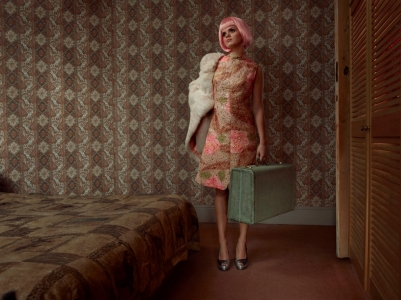 Lilly Cole wearing Vintage clothes and props styled by stylist Mair Joint