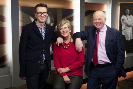 Prue Leith, Matthew Fort and Oliver Peyton styled by Mair Joint